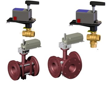 2 Way & 3 Way Actuated Ball Valves